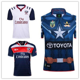 Wholesale usa rugby jerseys - Free shipping!2017 NRL National Rugby League USA United States Rugby jersey navy blue American rugby shirts Size S-3XL