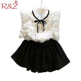 Wholesale Korean Cute Baby Boy - 2PCS 0-7Years 2017 Korean Fashion Kids Summer Toddler Clothes Baby Girl Princess Cute T-Shirt+Skirt Children Clothing Set