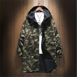 extra lange jacken Rabatt Zwei Seiten tragen mittleren und langen Stil  Windbreaker Männer Fett und extra e7f171bcb4