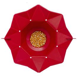 Wholesale Microwave Bowls - Microwaveable Popcorn Maker Pop Corn Bowl With Lid Microwave Safe New Kitchen Bakingwares Diy Popcorn Bucket