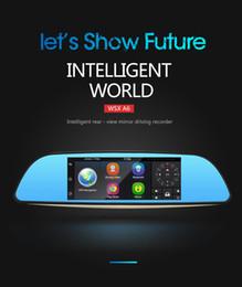 7 pulgadas 3G Car DVR Cámara GPS Bluetooth Lente Dual Retrovisor Espejo Grabador de Vídeo FHD 1080P Automóvil DVR Espejo Dash cam apoyo desde fabricantes