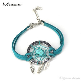 Wholesale nature series - Meetcute Summer Indian Series Dream Catcher Bracelet Dreamcatcher Jewelry Nature Stone Bracelets & Bangles For Women Men Gifts