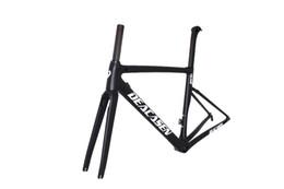 Wholesale bike frame 54 - Super light Cheap Di2&mechanical carbon fiber bike frame bicycle frameset 44 49 52 54 56 58cm aero carbon road frame