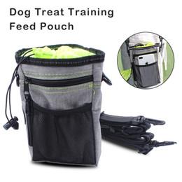 Köpek Bakım Antrenmanı Çoklu Poşetle Besleme Kılıfı Pet Açık Aktivite Mavi veya Yeşil Renk için Ayarlanabilir Kemer Kayışı nereden