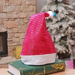 cappelli di chrismas Sconti Red Paillettes Chrismas Cappello Morbido Peluche Colorato Testa di Babbo Natale Decortion Accessori Chrismas Party Decor Ornamenti Forniture Per Adulti PCH2