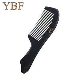 Wholesale Pure Fishing - YBF Pure handmade Black Buffalo ox Horn hair Combs Health Care Anti-static Beauty Make Up Fish Shape Massagem Brushes NEW Gift