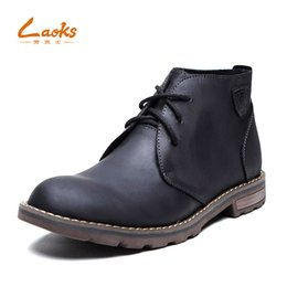 Wholesale Korean High Heel Boots - Low helpBoots male Korean version of theGenuine Leather bootsmen's boots leather casual high help England pointed toesBullock boots tide
