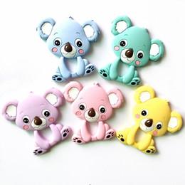 Wholesale Baby Koalas - Silicone Teethers Animal koala Chew Charms Baby Teething Gift Toddler Toys