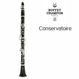 Instrumento musical de madera online-Buffet Crampon Conservatoire C12 Nueva llegada Bb Tune B Madera plana / Tubo de baquelita Clarinete 17 teclas Instrumento musical con estuche
