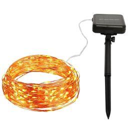 Solar Powered String Lights 32M 300LED Copper Wire Outdoor Fairy Light per decorazioni natalizie da nuove luci ghiacciate bianche fornitori