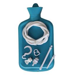 Enema Bag Clean Anal Silicone Douche pour Hommes Femmes Sans BPA (2 Quart) Bouillotte - Coffee Douche Home Adult Enema Kit (Bleu) ? partir de fabricateur