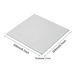 Calore in vetro al Borosilicato trasparente 220x220x3mm per stampanti 3D Anet A8 A6 Reprap 3d Accessori per stampante da grandi decorazioni natalizie fornitori