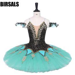 trajes de bailarina adultos Desconto Mulheres Adulto Preto Verde Ballet Traje BT9220 Esmeralda Bailarina Variação Profissional Ballet Tutu Panqueca Saia Custom Made