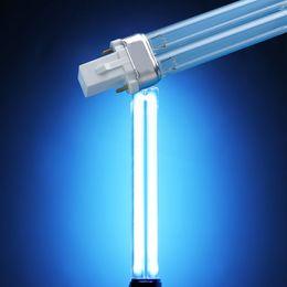 Canada UVC Bi-broche G23 Base Quartz Remplacement Linéaire Double Tube Ampoule Lampe SUNSUN Jebo Grech Stérilisateurs UV Clarifiers Aquariums Cabinet 5w-36w cheap aquarium lighting tube Offre