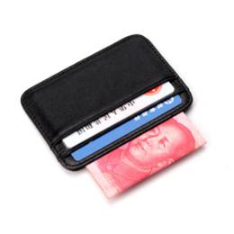 Carteras de piel de oveja online-COHEART Super Slim Soft Wallet 100% piel de oveja cuero genuino mini tarjeta de crédito monedero monedero titulares de tarjetas Hombres Wallet Thin Small!