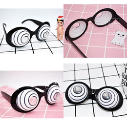 Wholesale eyeball glasses - Eyeball Modelling Glasses Party Supplies Gift Funny Birthday Halloween Spectacles Black Creative Photograph Prop Hot Sale 7 5sfc V