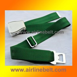 Wholesale Airlines Metal - 38mm metal ends airline aircraft airplane seat belt original buckle belt outdoor safety seatbelt mens jeans belt