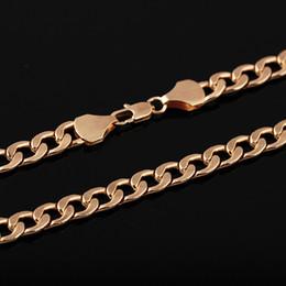 роскошное золото заполнить ожерелье Скидка 2018 New Arrival Fashion Men Women Fashion  Filled Curb Cuban Link Gold Necklace Jewelry Chain unisex Collar de mujer