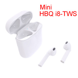 Wholesale Wireless Noise Cancellation - HBQ Mini I8 Portable Bluetooth Headphones TWS Twins V4.2 Earpiece Binaural Stereo Noise Cancellation Wireless Earphones for iPhone X 8