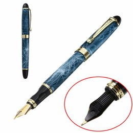 Canada Haut de gamme stylo plume marbre moyenne fine plume écriture peinture stylo plume marbre laqué finition avec bordure dorée Mayitr supplier lacquer finishes Offre