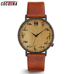 e416eca9efb9 Cocotina Top Luxury Creative Men Watch Sex Make Love Pattern correa de  cuero relojes de cuarzo hombres reloj de pulsera de bambú relojes de madera  cuarzo ...