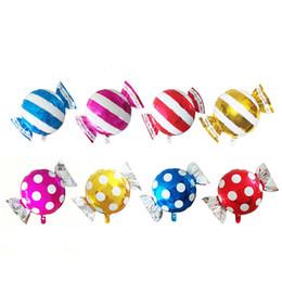 48 * 65 см симпатичные полосы красочные конфеты форма воздушный шар сладкий фольгированные шары душа ребенка украшения партии дети дети подарок на День Рождения от