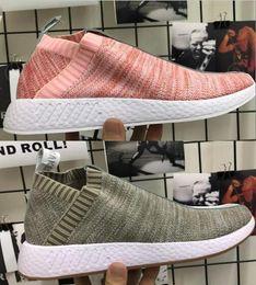 Wholesale naked original - 2018 Originals Naked x Kith Brand Consortium NMD CS2 Primeknit Women Men Running Shoes Designer Nmds Runner City Sock Pink Sport Shoes