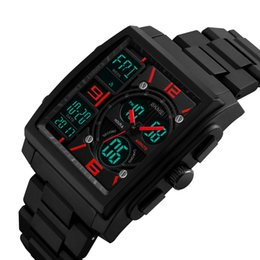 Wholesale Skmei Digital Watches - SKMEI Fashion Casual Digital Watch 5ATM Water resistant Watch Men Wristwatches Male Relogio Musculino Backlight Chronograph