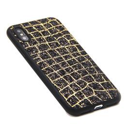 Wholesale Red Diamond Wine - For iphone X 8 7 6 Luxury Samsung S8 Plus Goophone Case cover Diamonds Blaze Crocodile skin shine TPU soft new Material 2018