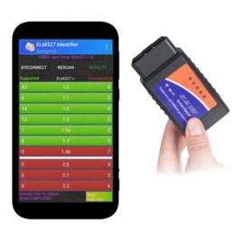 2019 trasporto libero di vci Nuovo pacchetto ELM327 V1.5 Bluetooth / WIFI con chip PIC18F25K80 per Android IOS Strumento diagnostico ELM327 Bluetooth v1.5 OBD2 Scanner