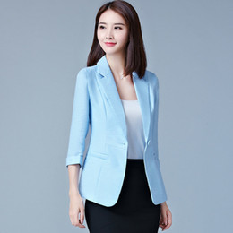 2dae9b9ff577 4XL 5XL Blazers 2018 New Fashion Single Button Blazer Women Plus Size Suit  Green White Pink Blue Blaser Female Blazer femme Y1891701