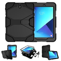 Wholesale waterproof cases for s3 - For SAMSUNG GALAXY Tab S3 S2 Case PC Silicon 3 in 1 Treble Layered Shockproof Hybrid Cover for ipad pro 9.7 12.9 10.5 Air 2 Mini OPP Aicoo