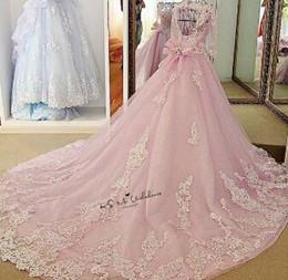 Robe De Mariée De Luxe Rose Robes De Noiva Princesa Perles Demi-Manches Robe De Bal Robes De Mariée Importés De Chine Robes De Mariée Dentelle ? partir de fabricateur