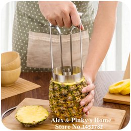 Wholesale Stainless Pineapple Slicer - New Style Stainless Steel Fruit Pineapple Slicer Peeler Cutter Kitchen Tool Pineapple Peeler