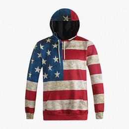 América del Norte Moda Hombre   mujer Sudaderas 3d Imprimir EE. UU.  Estrellas de la bandera Sudadera con capucha con capucha con capucha Tops  con capucha ... 1617b6b0b80