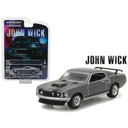Wholesale diecast toy 64 - Green Light 1:64 1969 Ford Mustang Boss 429 alloy toy car toys for children diecast model car Birthday gift freeshipping