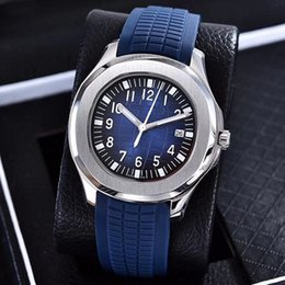 Wholesale comfortable folding - LUXURY WATCH SILVER Aquanaut Automatic Movement Stainless Steels Comfortable Rubber Strap Original Clasp Men Mens Watch Watches