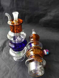 Wholesale Pagoda Glass - Color pagoda hookah Wholesale Glass bongs Oil Burner Glass Pipes Water Pipes Glass Pipe Oil