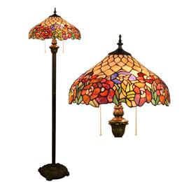 lámpara de pie para sala de estudio Rebajas Euignis Lámparas de pie para sala de estar Estudio de vidrio de colores Estudio Comedor Dormitorio Oficina Lámpara de pie Bar Lámpara Esmaltada