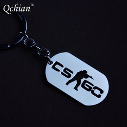 Wholesale Resin Counter - 1Pcs Game CSGO Key Chains Stainless Steel Keychain Counter Strike CS GO Keychain Keyring Porte Clef Chaveiro Carro