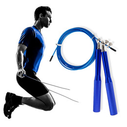 Wholesale Wholesale Skipping Ropes - 360° Ball Bearing Adjustable Speed Steel Cable Jump Rope With Aluminum Handles for skipping, Crossfit, OD, MMA & Boxing Training