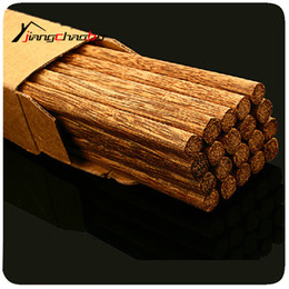 2019 scatola di legno del bacchette Bacchette di legno di ala di pollo di grado superiore 10Pairs / Box Salute senza stoviglie di cera di lacca Stoviglie di registro ecologiche sconti scatola di legno del bacchette