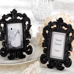 Wholesale Bridal Shower Cards - Elegant White Baroque Photo Frame Wedding Party Favors Bridal Shower Place Card Holder Party Decoration Gifts
