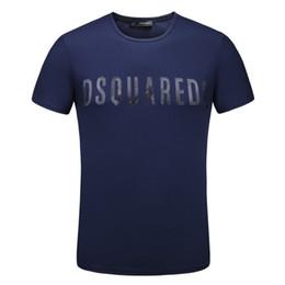 Wholesale High Fashion Clothing Brands - 2018 New Fashion Brand Men's Clothes Short Sleeve T-shirt Casual Tees High Quality Print D2 100% Cotton Print Tops O-Neck T-shirt