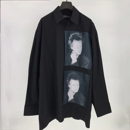 Wholesale Oversized Collar Shirt - 17SS Raf Simons Shirt Catwalk Show Cloth Men Women Fashion Oversized Long Sleeve Turn-down Collar Shirt S-L size Free Shipping 668