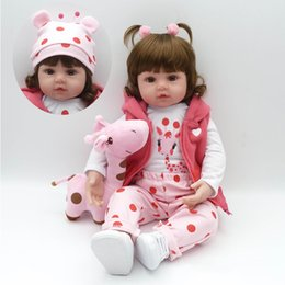 """Wholesale Pink Doll Clothes - 22""""Doll Reborn Toys Soft Cloth Body Silicone Toddler Reborn Babies Pink Clothing Full Set Girl Dolls Toys Christmas Gift Bonecas"""