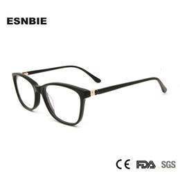 Wholesale Optical Glasses Womens - ESNBIE Diamond Acetate Glasses Women Eyewear Optical Frames Prescription Womens Myopia Eyeglasses Oculos De Grau Feminino