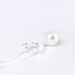 Wholesale Pearly Whites - Charms 925 sterling silver Johnson antler pendant Korean pearly elk Necklace Christmas Fashion sets jewelry valentines day gift women China