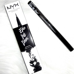 Wholesale eyes liners - NYX Epic Ink Liner NYX EYELINER PENCIL Black NYX Epic Ink Liner Headed makeup eyeliner pencil Black Color liquid eye liner in Stock