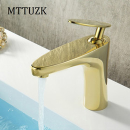 Wholesale Painting Bathroom Faucets - Bathroom Basin Brass Faucet.Chrome, White Painting, Black Painting, Golden Faucet. Basin Sink Mixer Tap hot&cold Leaves Faucet